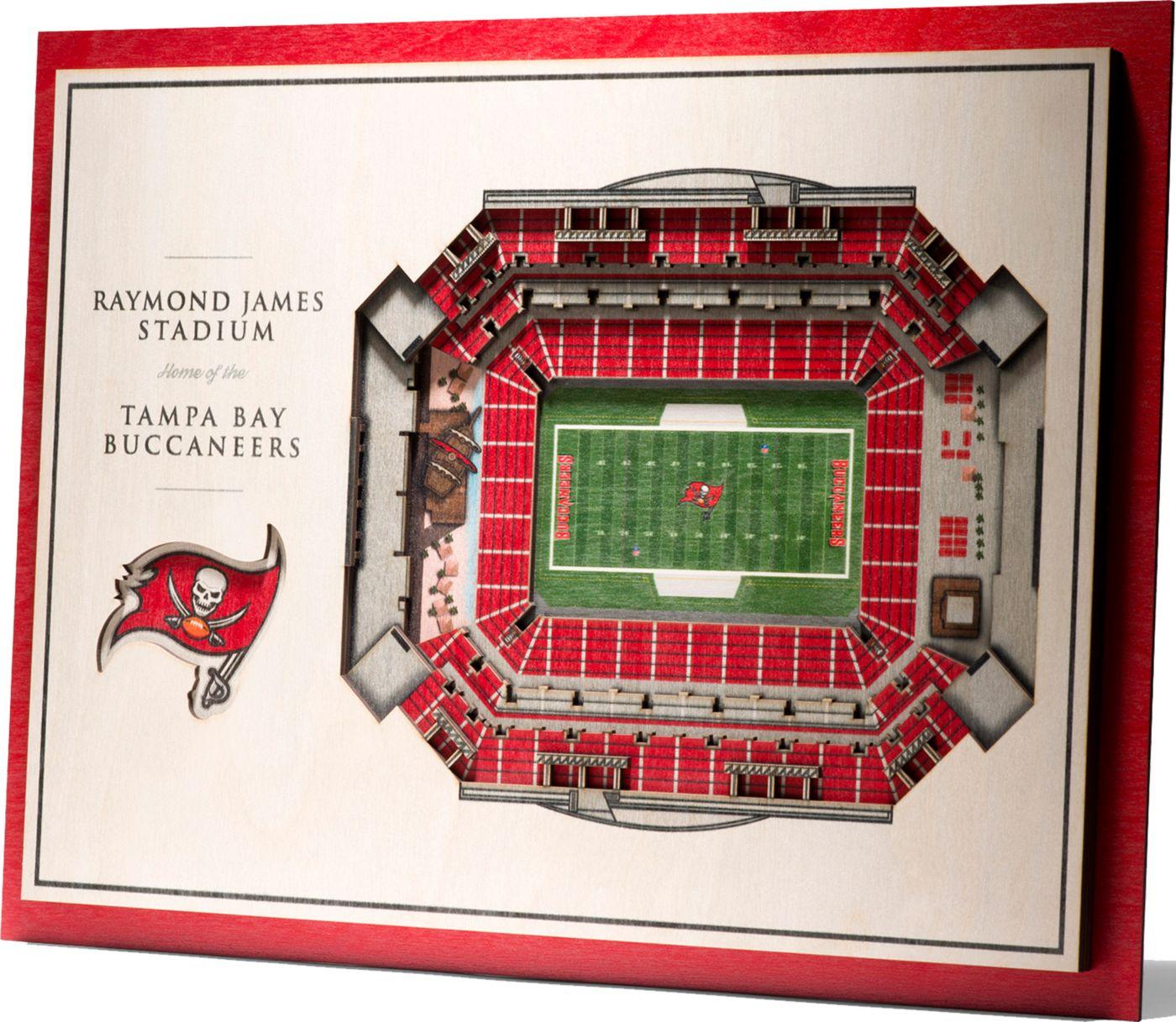 You the Fan Tampa Bay Buccaneers 5-Layer StadiumViews 3D Wall Art