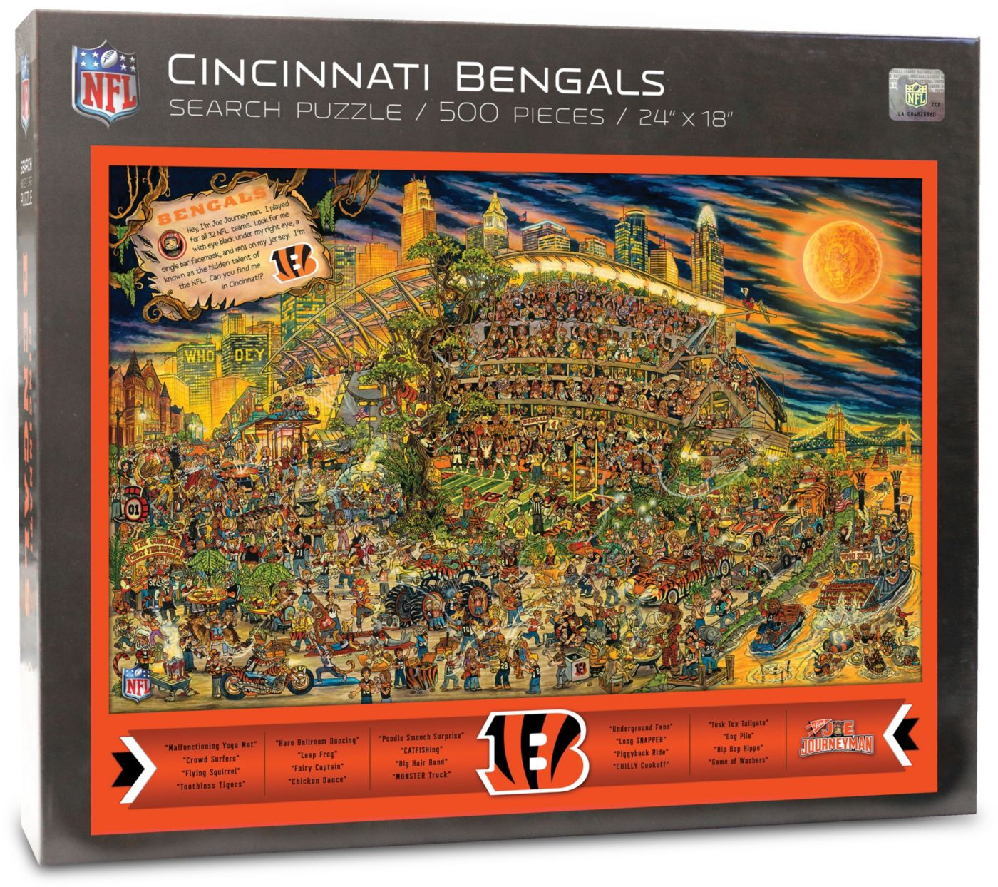 You the Fan Cincinnati Bengals Find Joe Journeyman Puzzle