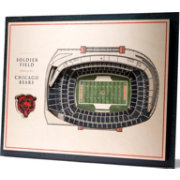 You the Fan Chicago Bears 5-Layer StadiumViews 3D Wall Art