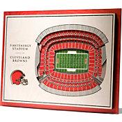 You the Fan Cleveland Browns 5-Layer StadiumViews 3D Wall Art