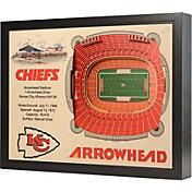 You the Fan Kansas City Chiefs 25-Layer StadiumViews 3D Wall Art