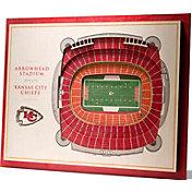 You the Fan Kansas City Chiefs 5-Layer StadiumViews 3D Wall Art