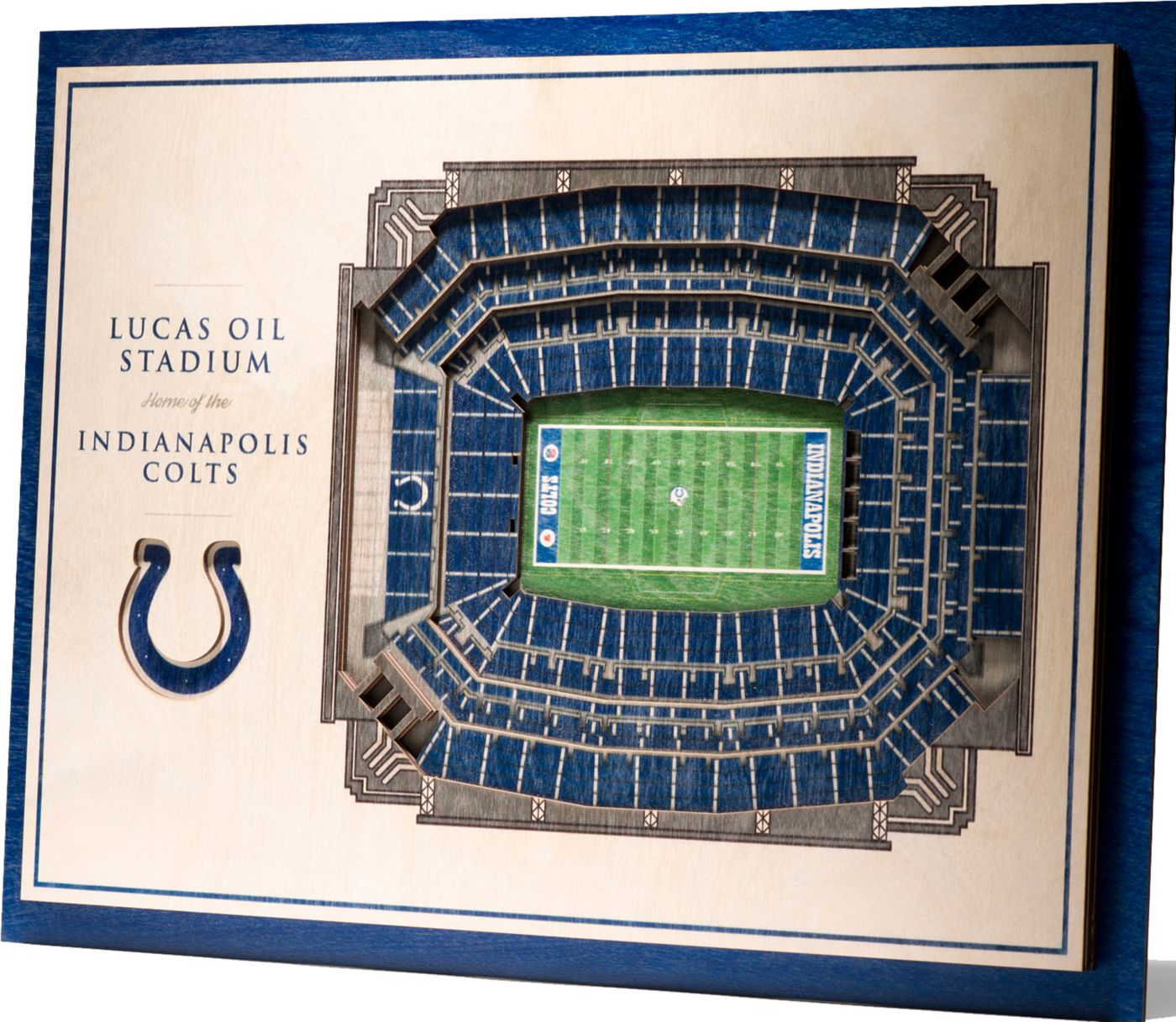 You the Fan Indianapolis Colts 5-Layer StadiumViews 3D Wall Art