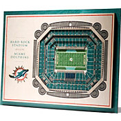 You the Fan Miami Dolphins 5-Layer StadiumViews 3D Wall Art