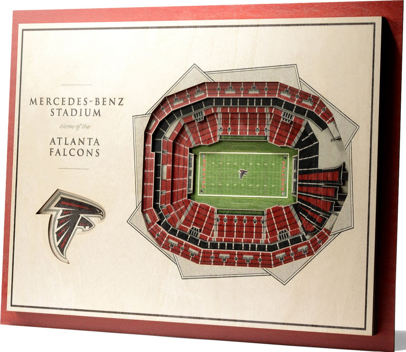 You the Fan Atlanta Falcons 5-Layer StadiumViews 3D Wall Art
