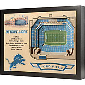 You the Fan Detroit Lions 25-Layer StadiumViews 3D Wall Art