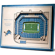 You the Fan Detroit Lions 5-Layer StadiumViews 3D Wall Art