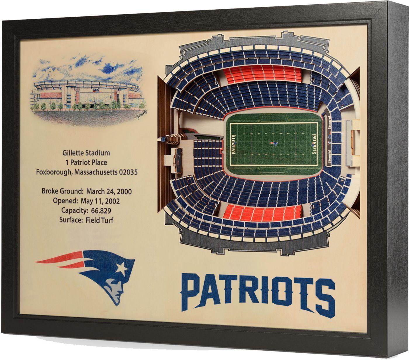 You the Fan New England Patriots 25-Layer StadiumViews 3D Wall Art