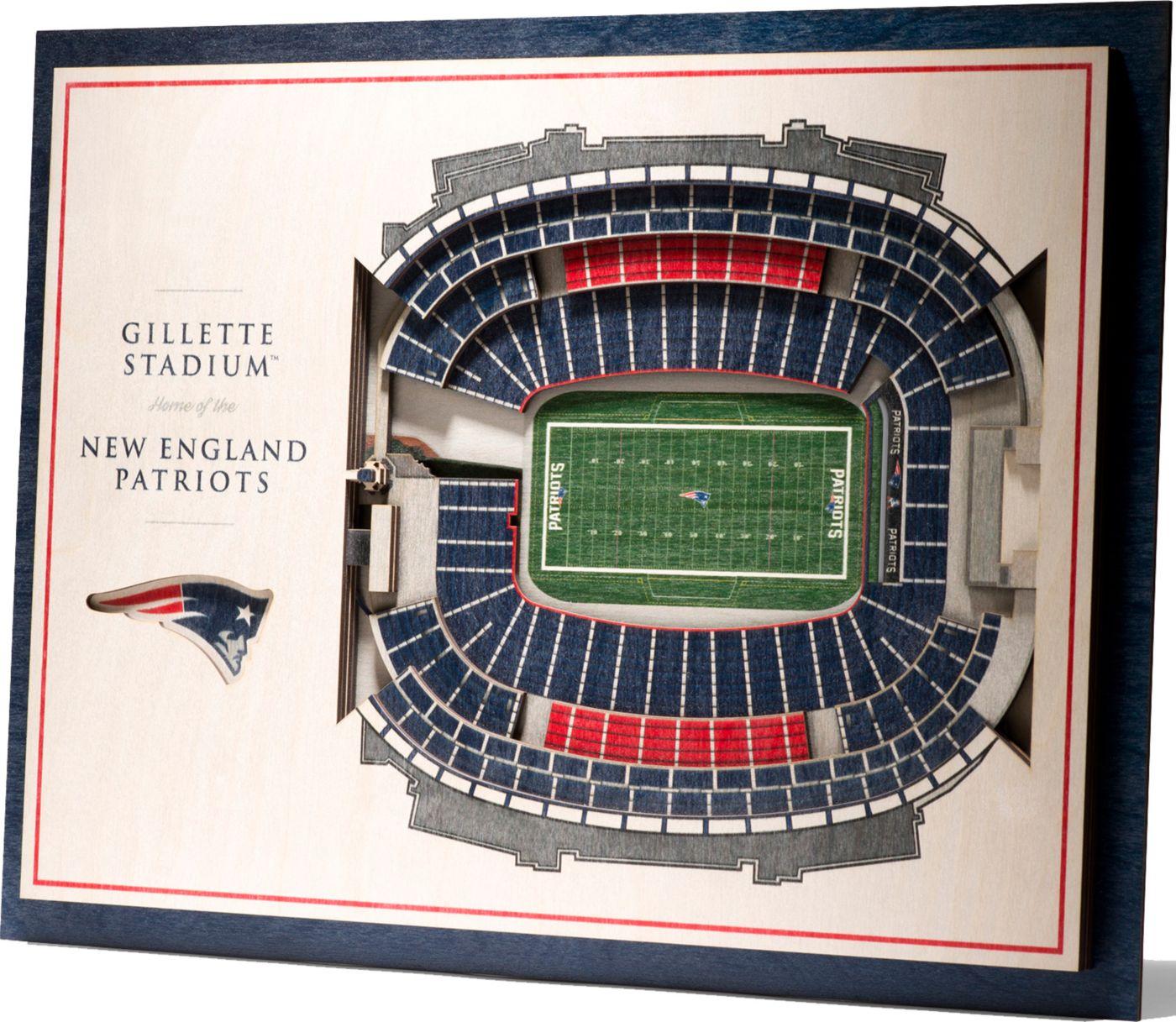 You the Fan New England Patriots 5-Layer StadiumViews 3D Wall Art