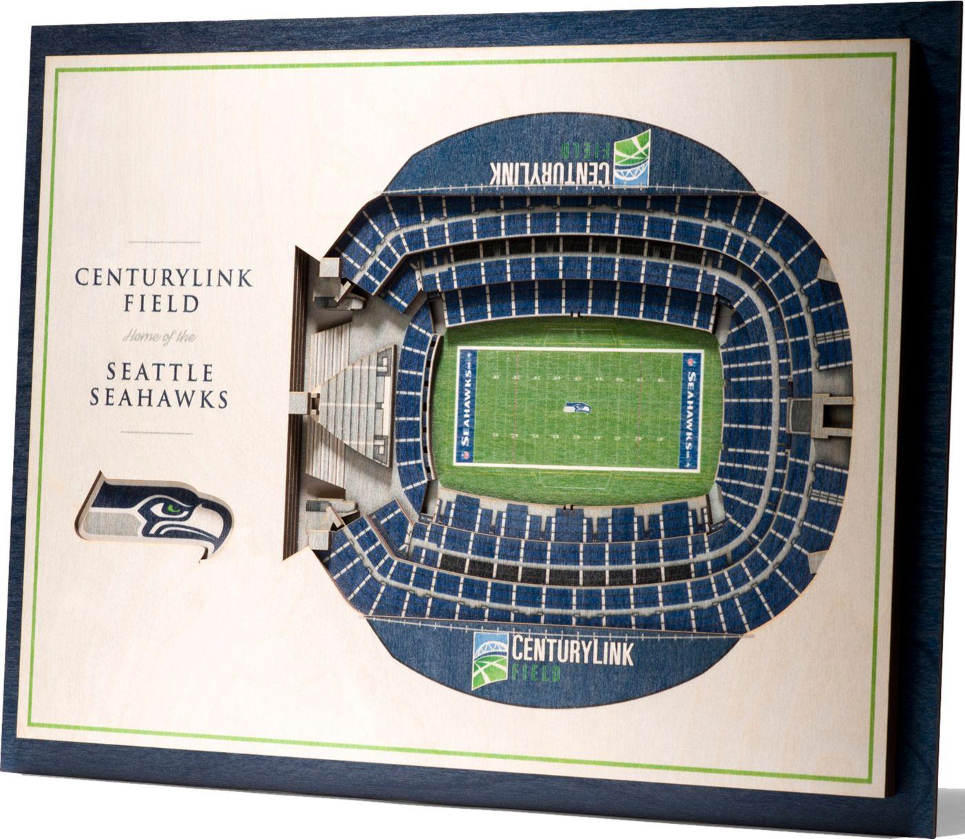 You the Fan Seattle Seahawks 5-Layer StadiumViews 3D Wall Art
