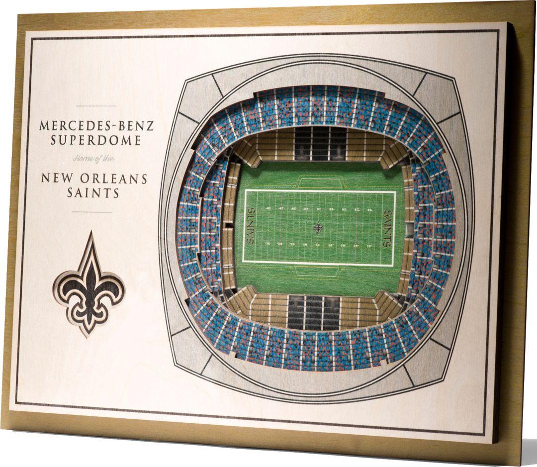 You The Fan New Orleans Saints 5 Layer Stadiumviews 3d Wall Art
