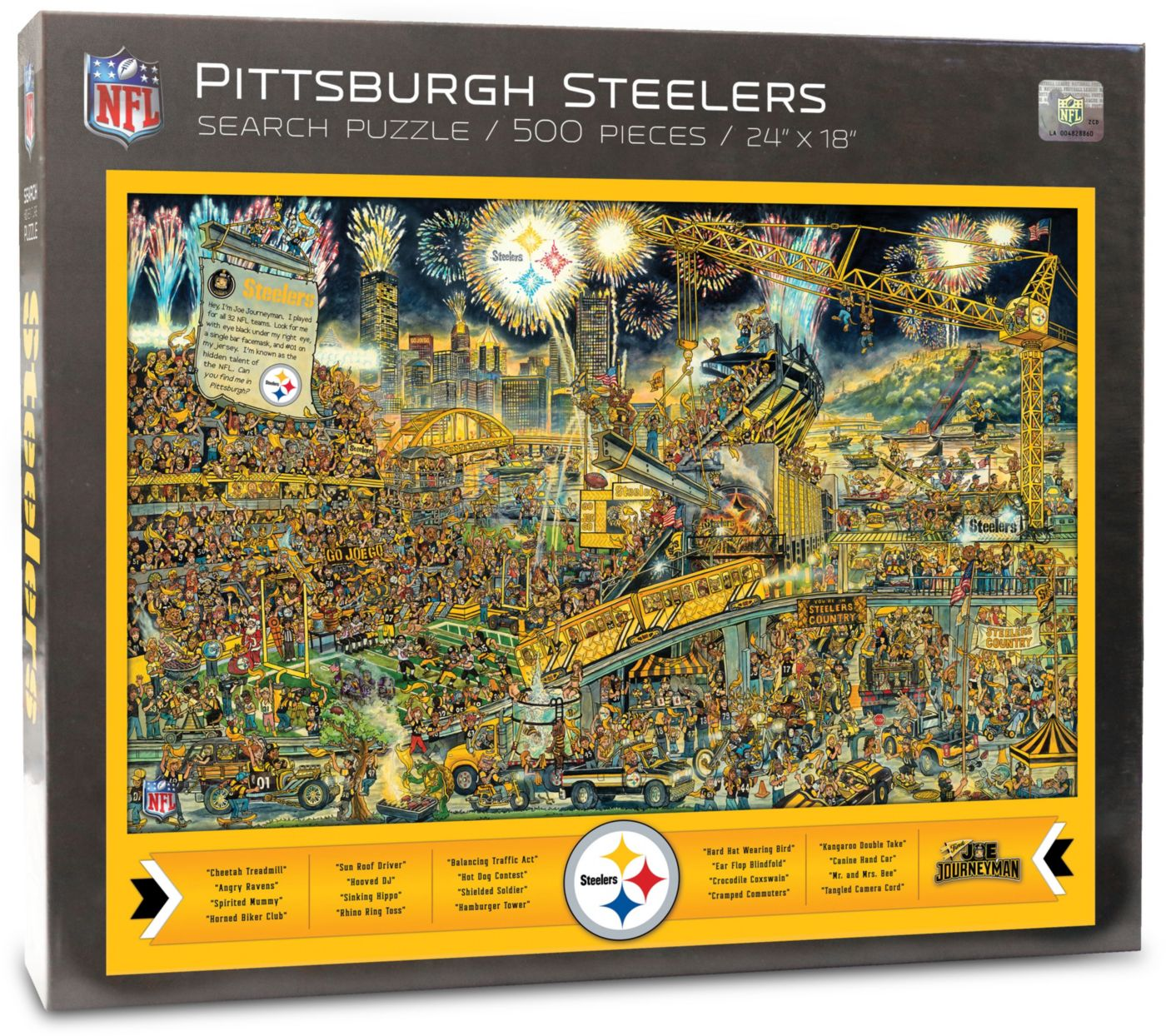 You the Fan Pittsburgh Steelers Find Joe Journeyman Puzzle