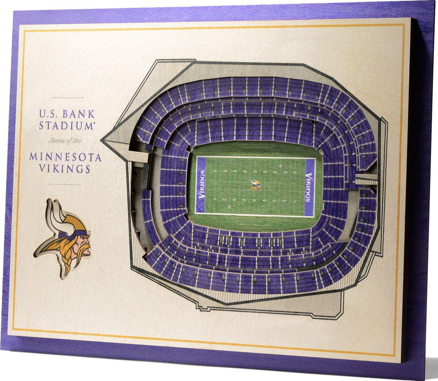 You the Fan Minnesota Vikings 5-Layer StadiumViews 3D Wall Art