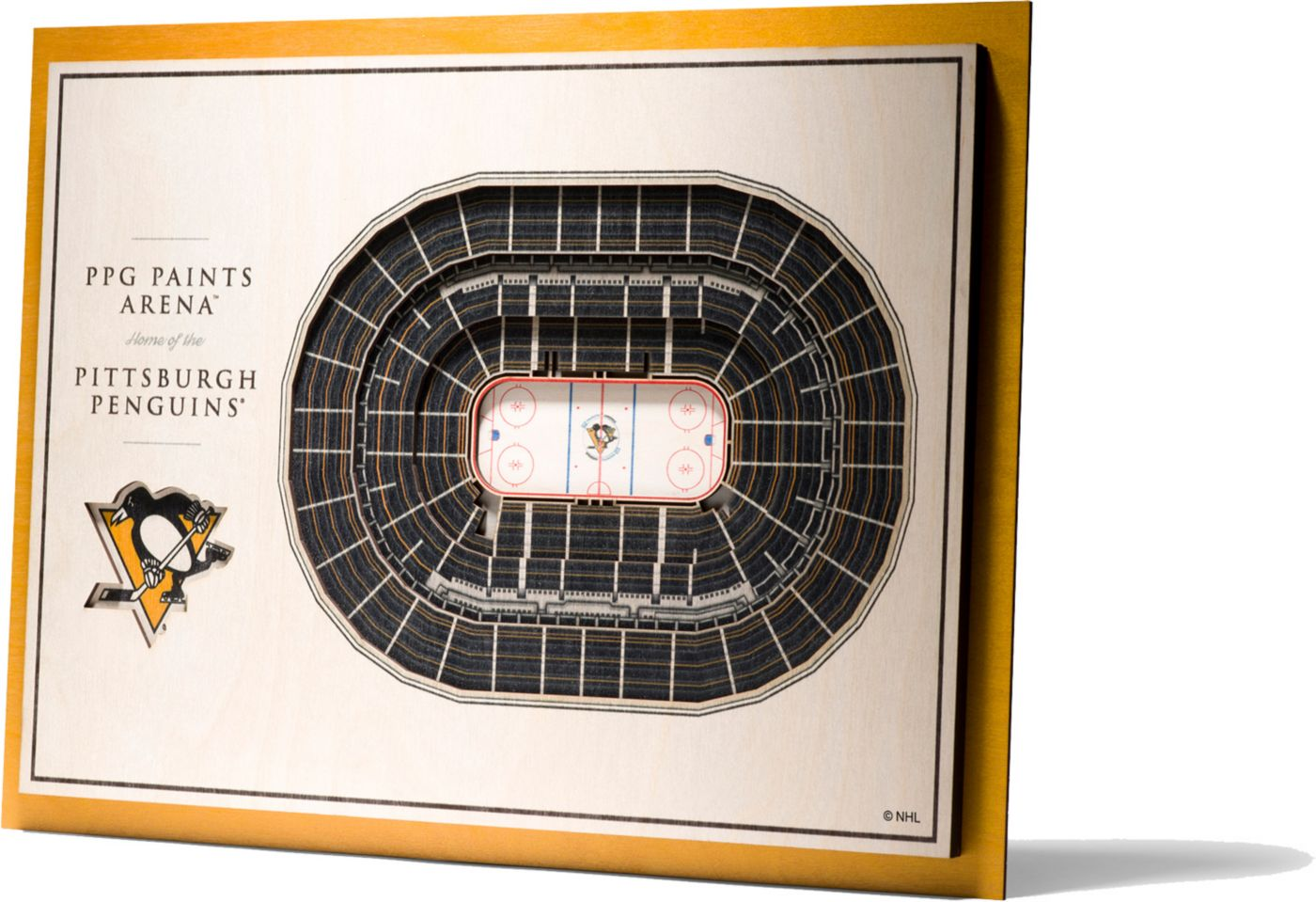 You the Fan Pittsburgh Penguins 5-Layer StadiumViews 3D Wall Art