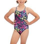 Dolfin Girls' Uglies V-Back Pattern Swimsuit
