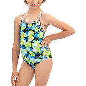 Dolfin Girls' Uglies V-Back Pattern Swimsuit