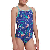 Dolfin Girls' Uglies Dream of Mermaid Print One Piece Swimsuit
