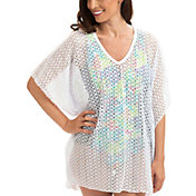 Dolfin Women's V-Neck Poncho Cover-Up