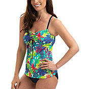 Dolfin Women's Aquashape Crossback Pattern Tankini Top
