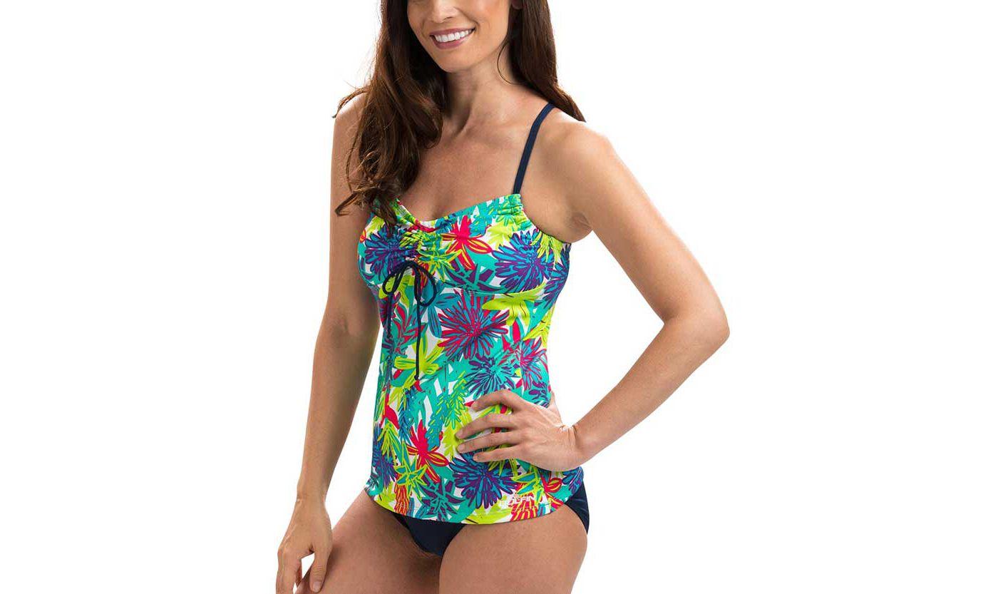 Dolfin Women's Aquashape Crossback Pattern Tankini Top