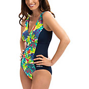 Dolfin Women's Aquashape Print V-Neck Swimsuit