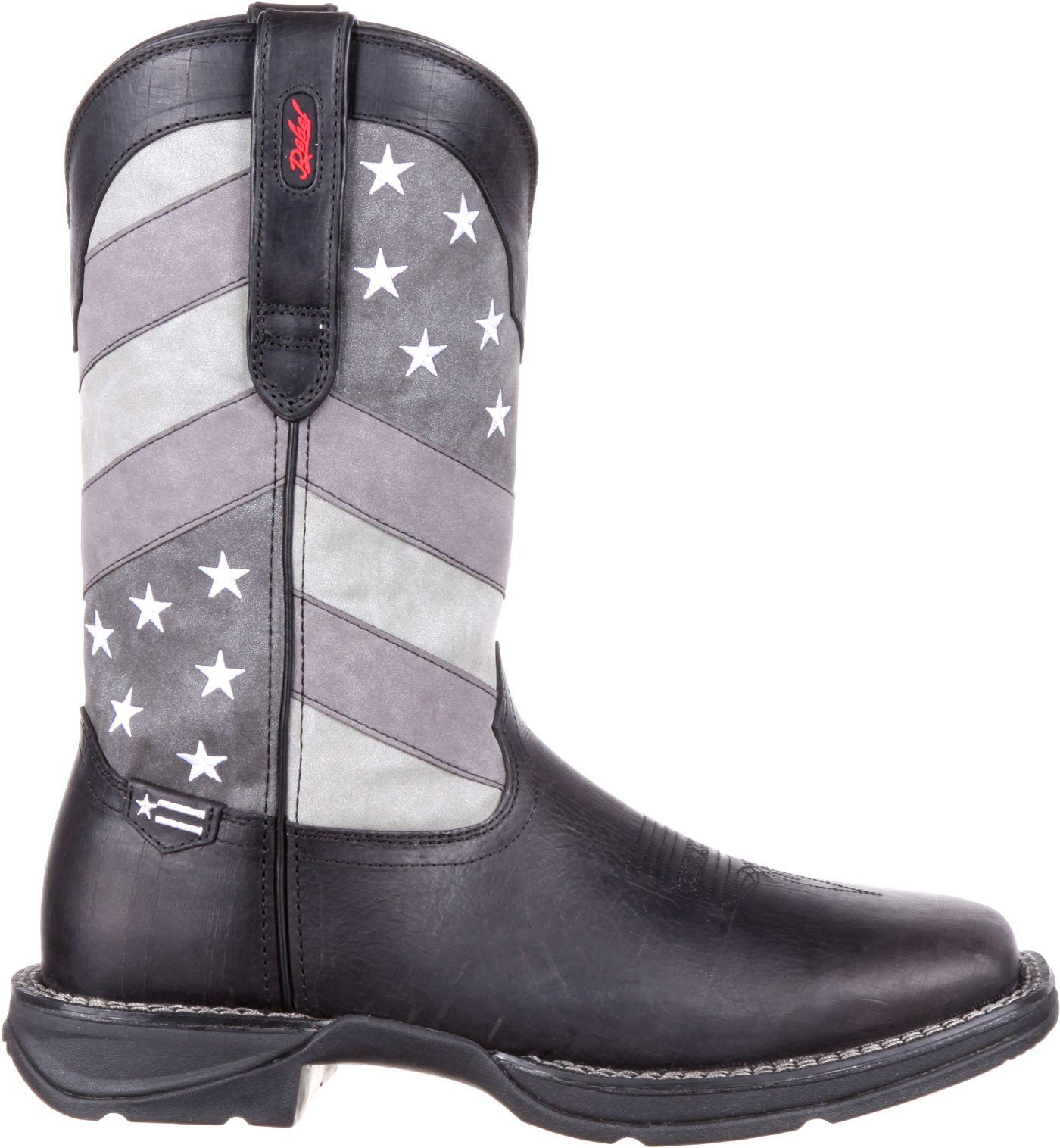 Durango Men's Faded Black Flag Western Boots