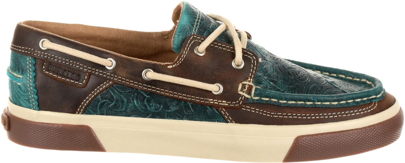 Durango Women's Music City Western Embossed Boat Shoes