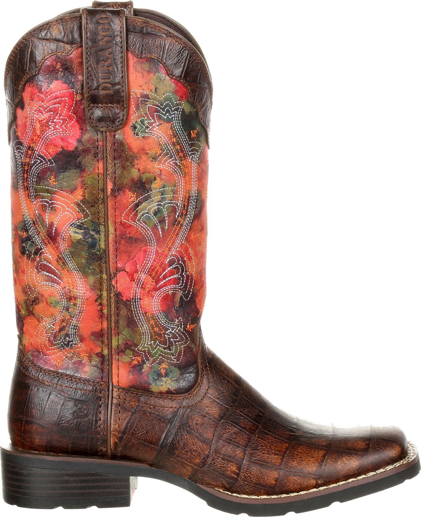 Durango Women's Mustang Exotic Rose Western Boots