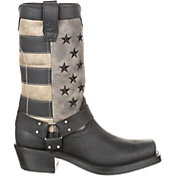 Durango Women's Black Flag Harness Western Boots
