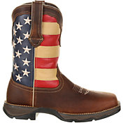 Durango Women's Lady Rebel Patriotic Flag Steel Toe Western Work Boots