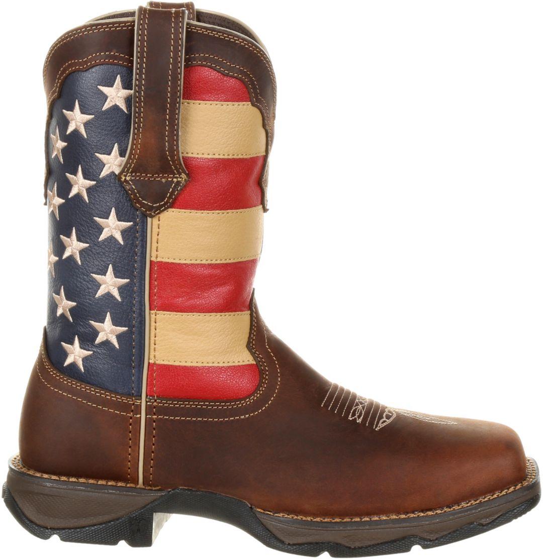 ec4574b7044 Durango Women's Lady Rebel Patriotic Flag Steel Toe Western Work Boots
