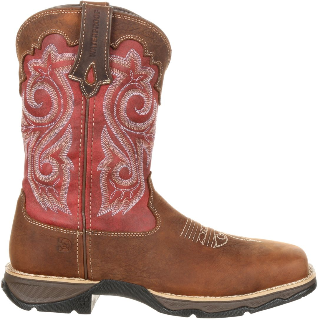 15e7db601e1 Durango Women's Lady Rebel Waterproof Composite Toe Western Work Boots