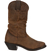 Durango Women's Distressed Tan Slouch Western Boots