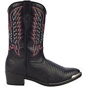 Durango Kids' Black Lizard Western Boots