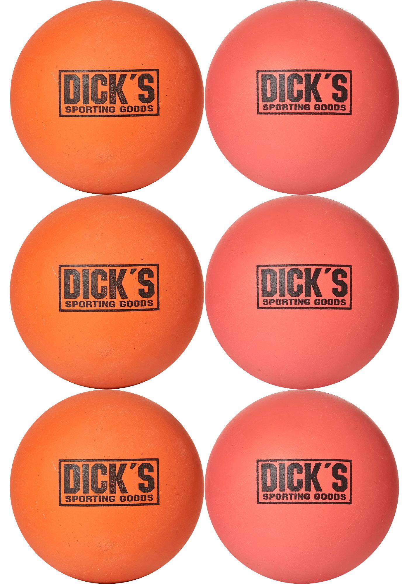 DICK'S Sporting Goods Soft Lacrosse Balls – 6 Pack