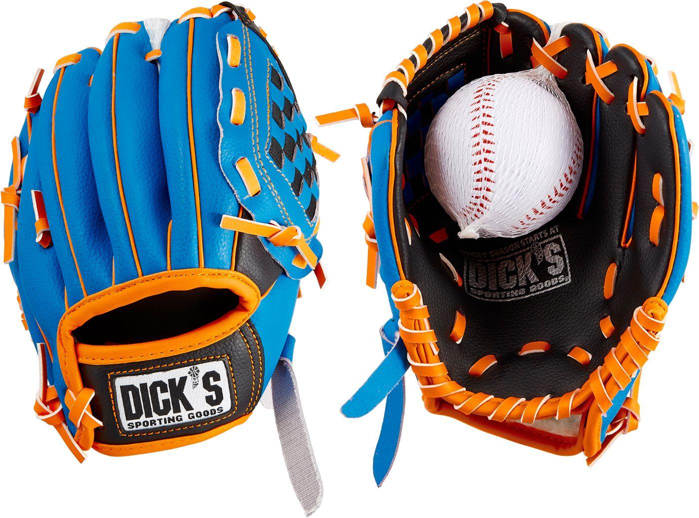 DICK'S Sporting Goods Backyard T-Ball Glove & Ball 2019