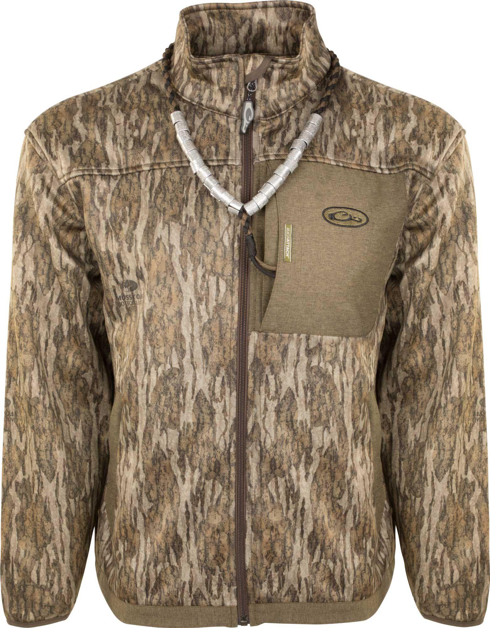 Drake Waterfowl Men's MST Quarter Zip Hunting Jacket, Size: Small, Brown