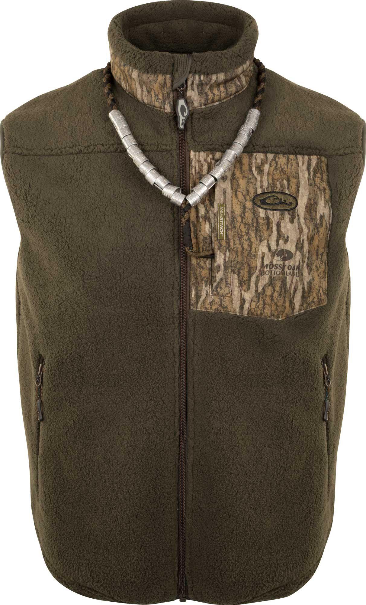 Drake Waterfowl Men's MST Sherpa Hybrid Vest, Size: XXL, Mossy Oak Bottomlands thumbnail