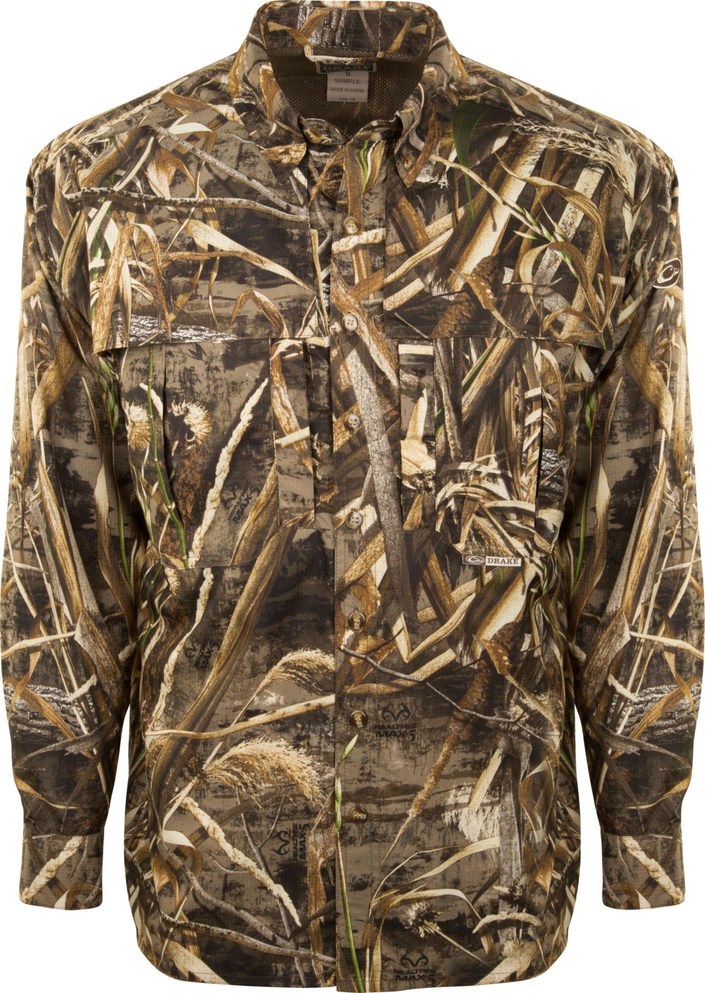 b941349e75ec3 Drake Waterfowl Men's Camo Flyweight Wingshooter's Hunting Shirt ...