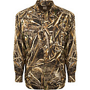 4d7edbbe261f0 Drake Waterfowl Men's Camo Flyweight Wingshooter's Hunting Shirt. Color  Swatch