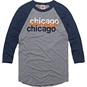 HOMAGE Men's Chicago Repeat Grey Raglan T-Shirt