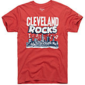 HOMAGE Men's Cleveland Rocks Red T-Shirt