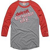 HOMAGE Men's Detroit The Motor City Grey Raglan T-Shirt
