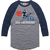 HOMAGE Men's Ski Michigan Grey Raglan T-Shirt