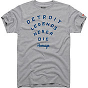 HOMAGE Men's Detroit Legends Never Die T-Shirt