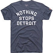 HOMAGE Men's Nothing Stops Detroit Navy T-Shirt