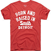 HOMAGE Men's Born And Raised In South Detroit Red T-Shirt