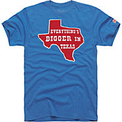 HOMAGE Men's Everything's Bigger In Texas Blue T-Shirt