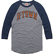 HOMAGE Men's H-Town Grey Raglan T-Shirt