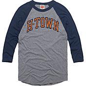 HOMAGE Men's H-Town Grey Raglan T-Shirt